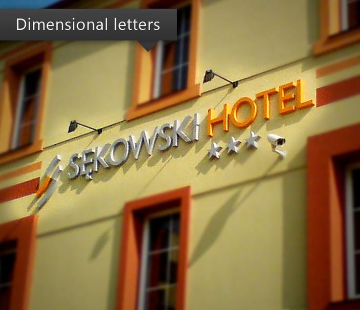 Dimensional letters Hotel Sekowski.