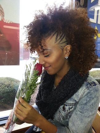 may grow out but keep the side cut...like this  Click the image for Alyssa's natural hair photos and regimen.