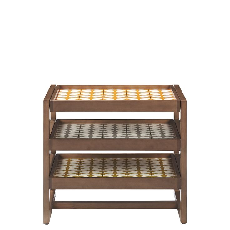 Orla Kiely: Walnut Tray Side Table With Lacquer Finish. Removeable And  Reversable Trays Inlayed