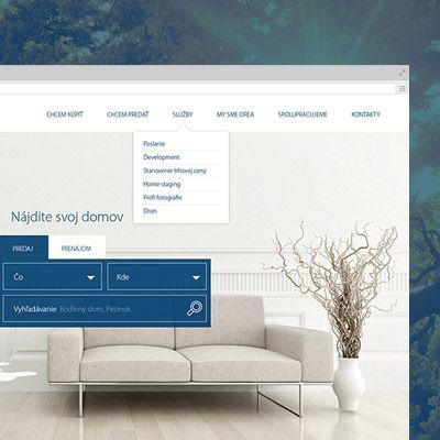 Vývoj grafického dizajnu pre webstránky realitnej kancelárie RK Orea