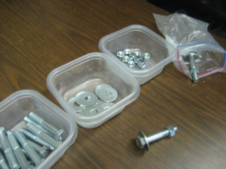Put together and take apart screw, nut, and bolt - great for fine motor skills!
