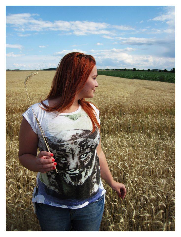 Photo by me. Photo: Diána Rigó #photography #grain #field #RedHair #hair #summer