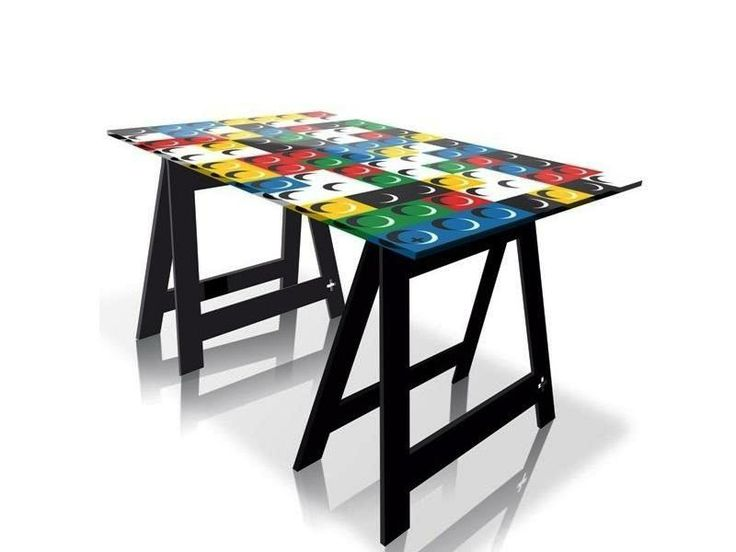 BRIKY, FLAGGY, UKY (and more …) Pop Art Home Office Desks-Dining Tables by Jean-Charles de Castelbajac from ACRILA @Acrila Mobilier design  http://www.design-fair.com/briky-flaggy-uky-and-more-pop-art-home-office-desks-dining-tables-by-jean-charles-de-castelbajac-from-acrila/  #Design #ModernStyle #PopArt #Furniture #DiningRooms #ChildrensRooms #KidsRooms #HomeOfficeFurniture #OfficeFurniture #OfficeDesks #OfficeTables #DiningTables #JeanCharlesdeCastelbajac #ACRILA #France #French