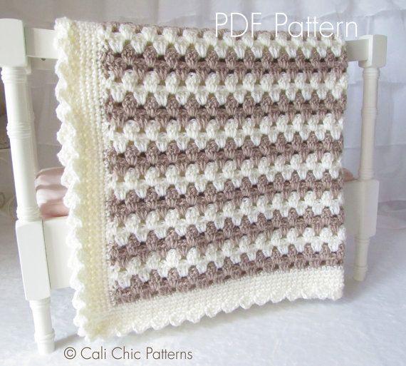 Crochet Baby Blanket PATTERN 58  Teddy Bear  от CaliChicPatterns