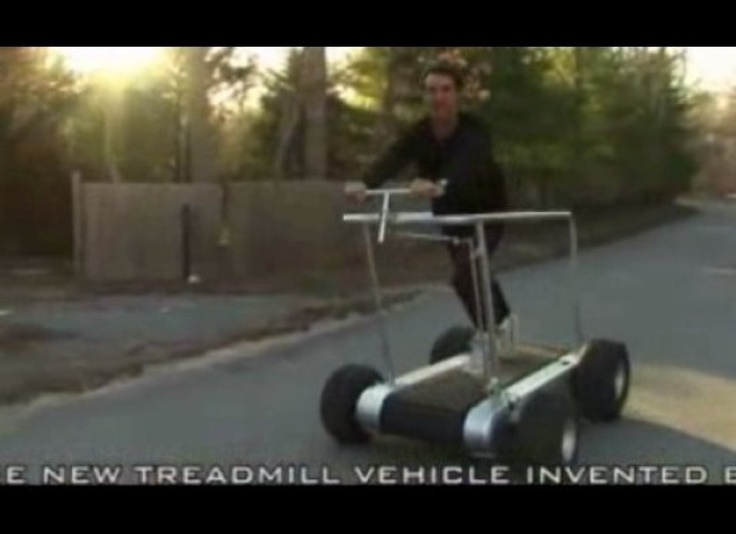 portable treadmill . can we just reflect on the irony?