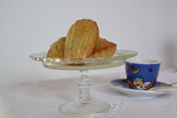 Madeleines au thé matcha