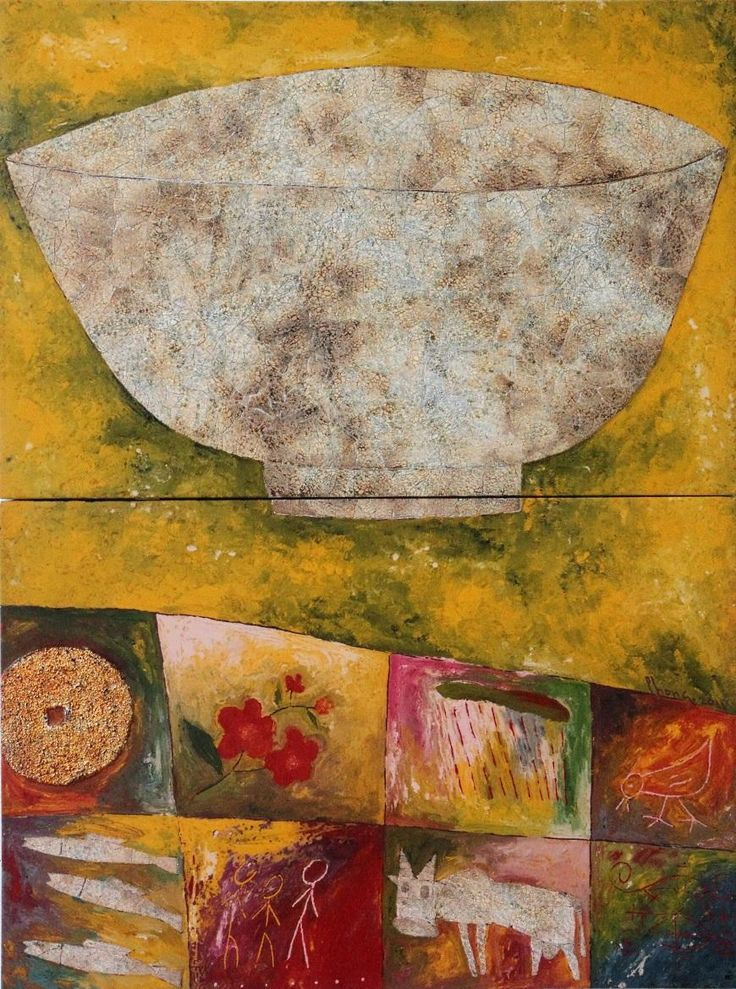 Life with Bowl by Phong Hoang Thanh Vinh - Vietnam Paintings for Sale