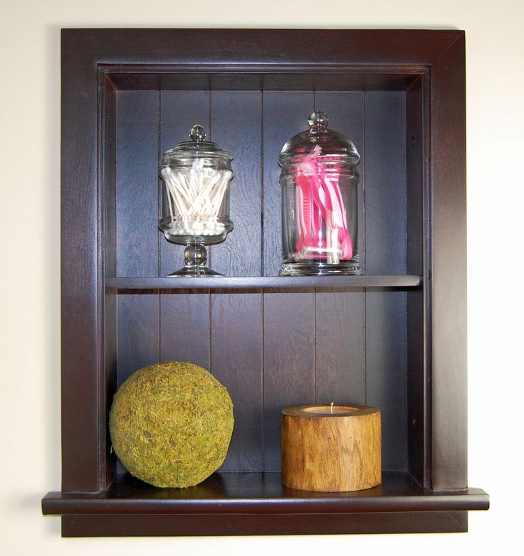 Dark Brown Recessed Wall Niche by Fox Hollow Furnishings (14x18) - Concealed Cabinet
