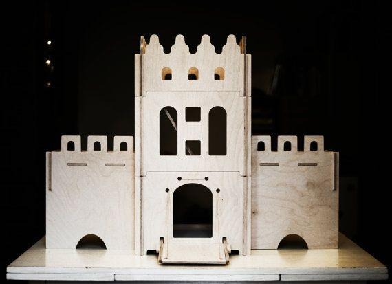 Dollhouse, Wooden castle, Christmas Gift For Children
