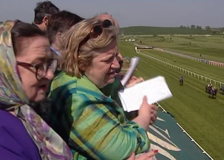 A Day at the Races. Two Fat Ladies: Series Four, Episode Four. Location: Floors Castle, Kelso, home of the Duke of Roxburghe. Cooked for the jockeys. The recipes were Hot Buttered Crab; Stuffed Cod with Tomato Sauce; Green Beans with Roman Mustard; and Rhubarb Barmbrack.