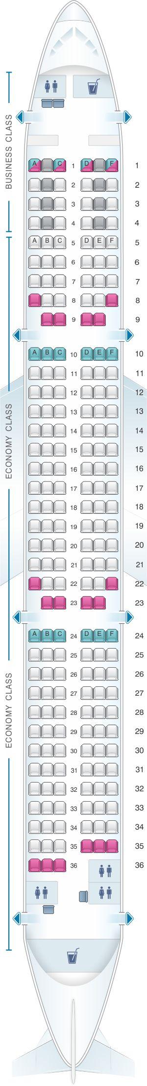 Seat Map Finnair Airbus A321 – 231
