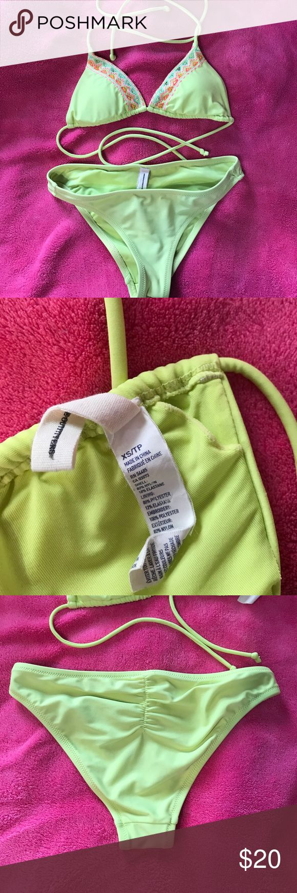 American Eagle swimsuit Neon yellow XS swimsuit. Purchased from TJ Maxx. Never been worn. No tags American Eagle Outfitters Swim Bikinis