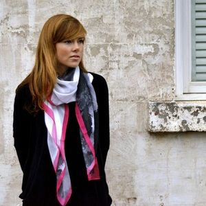 Image of Pink Ink Scarf