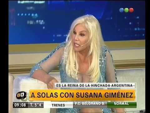 Susana Giménez, la reina de la hinchada argentina - Telefe Noticias.