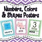 Chevron Numbers, Colors & Shapes Posters
