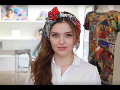 Альтернатива шляпке: 8 способов повязать платок на голову - Леди Mail.Ru