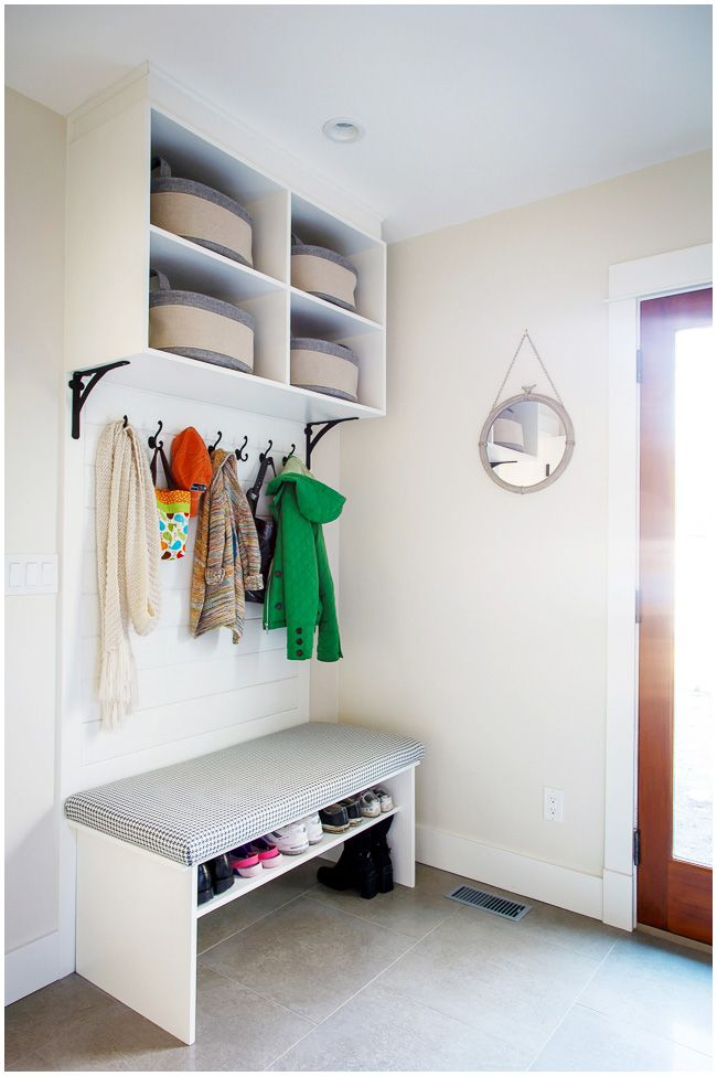 We Wanted A Cute Simple Nook As A Drop Zone For Coats And