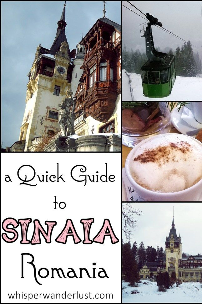 A Quick Guide to Sinaia, RomaniaThe Carpathian Pearl, as it is called for good reasons, is a small town and also a mountain resort, situated at about 800 meters altitude. The name of the city comes from the Biblical Mount Sinai in Egypt.