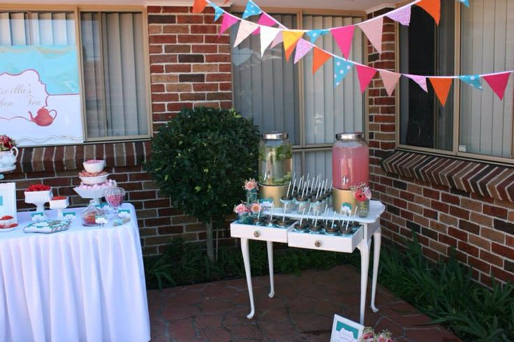 Pretty Drink Station with mason jars by Sweet Soirees (www.sweet-soirees.com.au)
