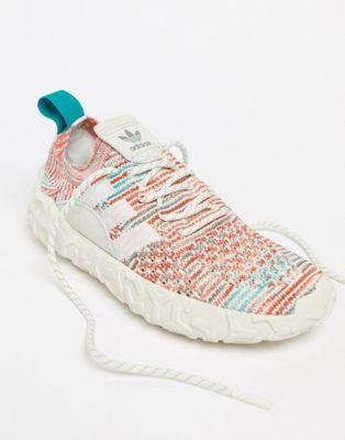 100% authentic ff8f8 94cd0 adidas Originals F22 Primeknit Sneakers In Off White