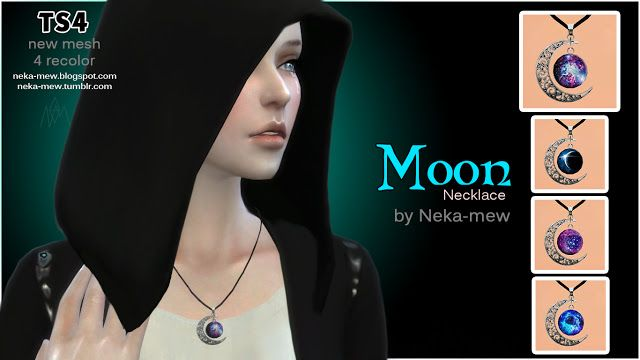 Sims 4 CC's - The Best: Moon & Sun Necklaces by World of Creations