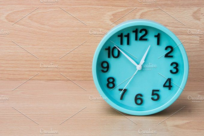 timer clock on wood background by Lady-Vintage on @creativemarket