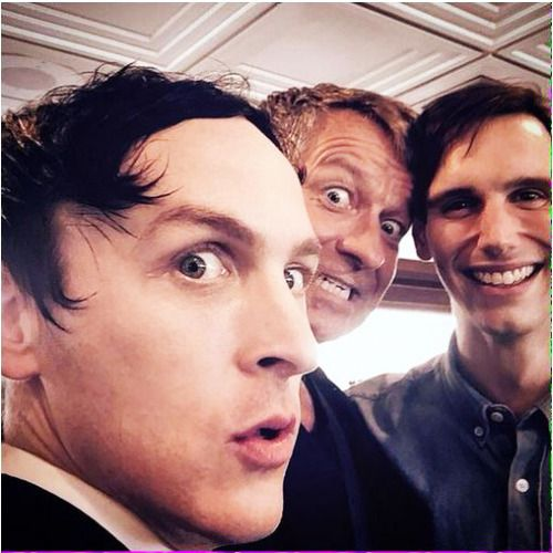 Robin Lord Taylor (Oswald Cobblepot / The Penguin), Sean Pertwee (Alfred Pennyworth) and Cory Michael Smith (Edward Nygma / The Riddler)