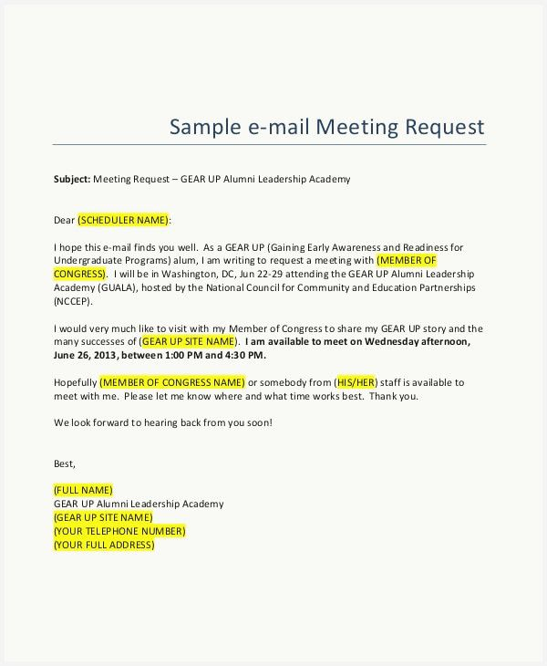 37 Free Meeting Request Email Samples Collection Mail Template Write An Email Email Writing