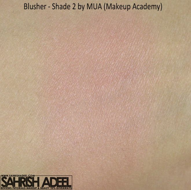 Blusher in 'Shade 2' by MUA Makeup Academy - Review