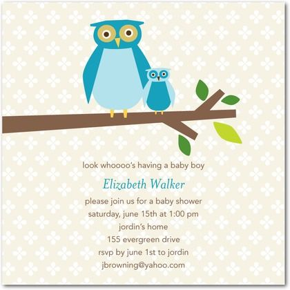 Invite owl: Shower Ideas, Baby Shower Invitations, Owl, Ballet, Products, Tiny Prints, Hoot, Baby Showers, Baby Shower