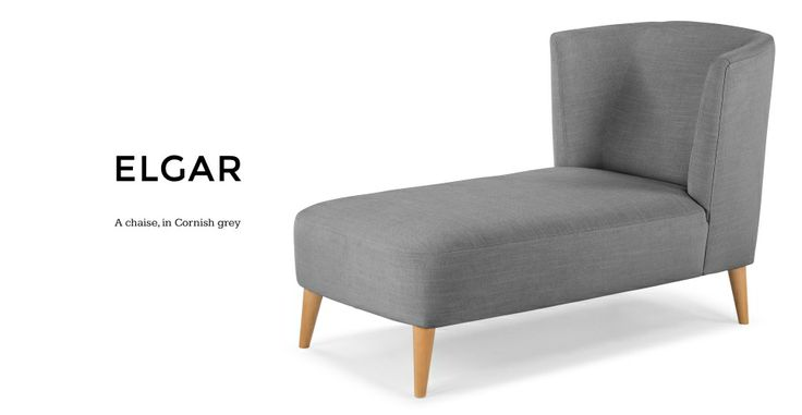Elgar Chaise in Cornish grey | made.com