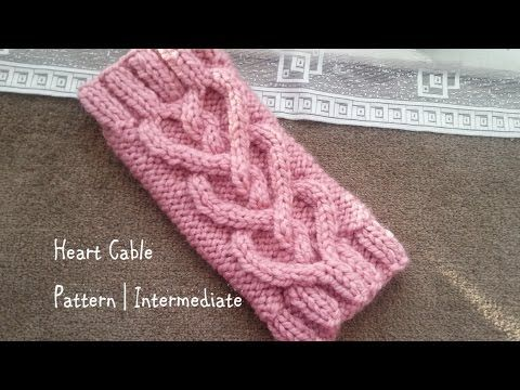 Heart Cable Pattern | Intermediate - YouTube