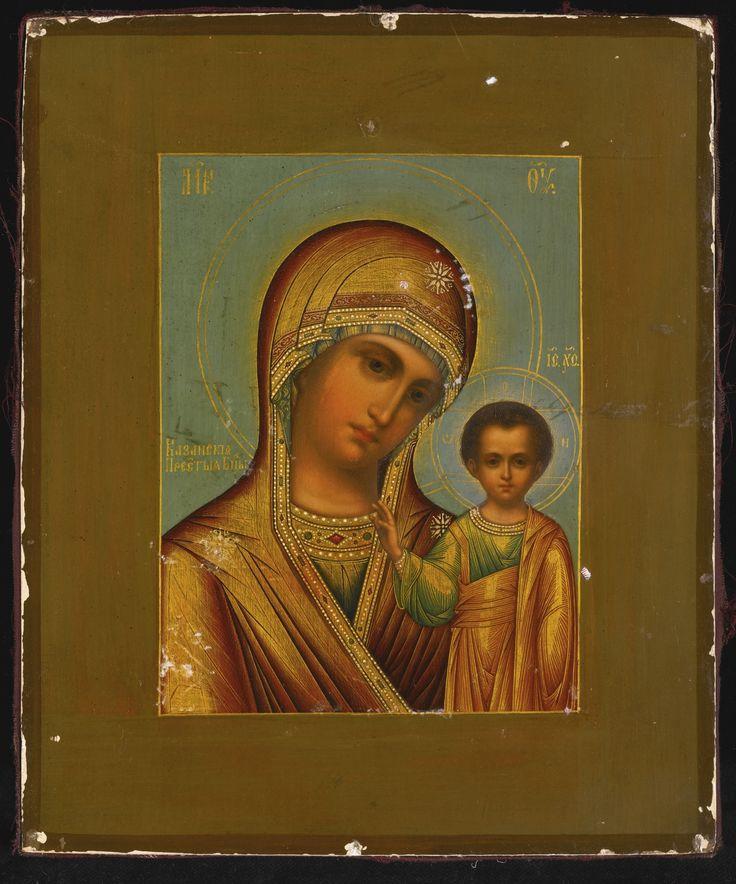 КАЗАНСКАЯ БОЖЬЯ МАТЬ Старинная икона
