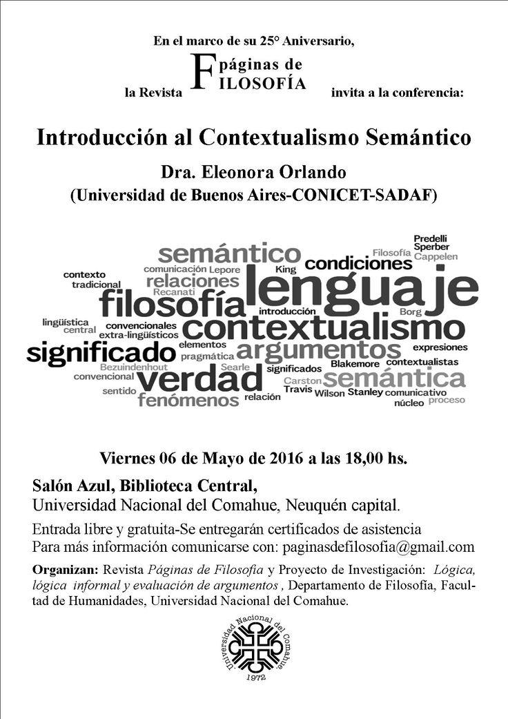 1991-2016: 25° Aniversario de Páginas de Filosofía | Biblioteca Central UNCo