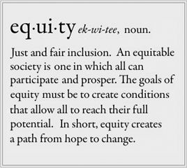 Equity Definition from the Anti-Racist Alliance