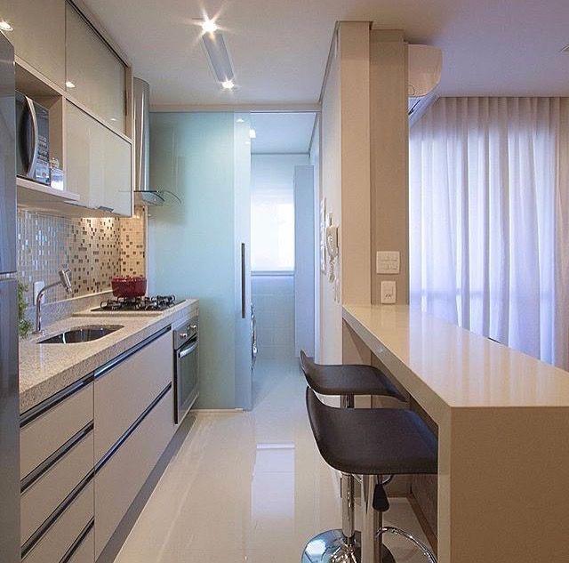 Cozinha Integrada, perfeita para pequenos apartamentos