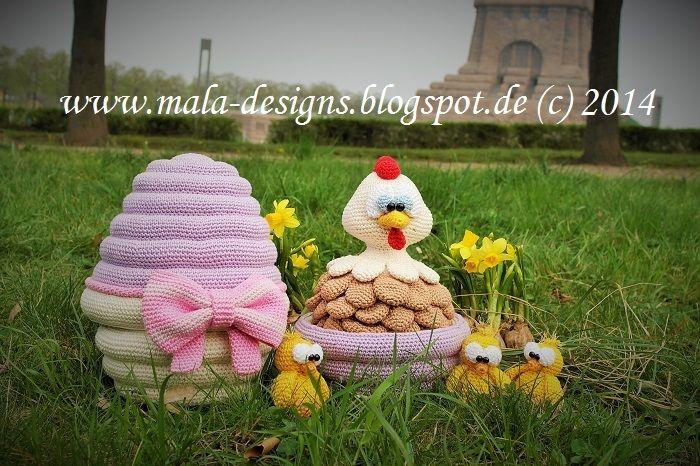 Osterei zum Befüllen,Häkelanleitung from mala designs by DaWanda.com