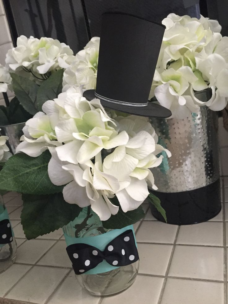 Little gentelman bow tie baby shower theme My baby shower centerpieces ! :)…