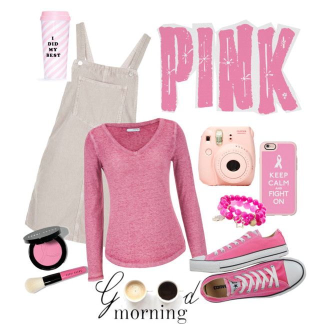 """Pink"" by aninditaarr on Polyvore featuring Casetify, Topshop, Bobbi Brown Cosmetics, maurices, Converse, Apt. 9, ban.do, Lulu*s, fashionWeek and fashionset"