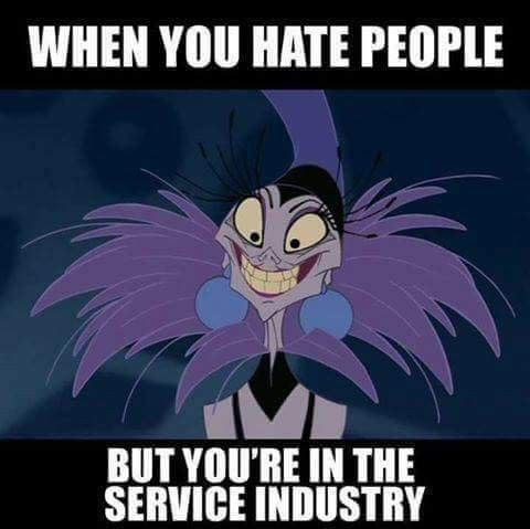 Lmaooo I can't help it!!! It's my 2 sides! So I get to be nice to my customers but yet a hermit at home