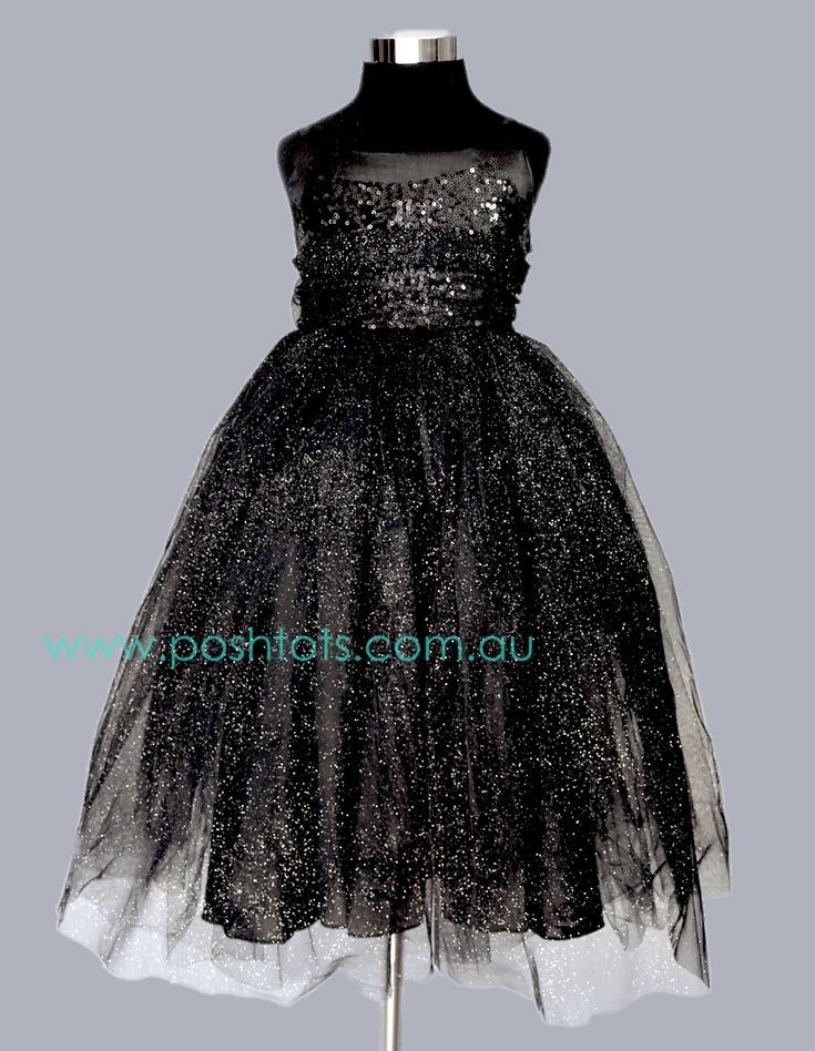 Keely - Black girls dress sizes 4-8. www.poshtots.com.au