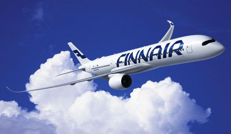 Rolls-Royce Trent XWB -moottoreilla varustettu Airbus A350-900 XWB Finnairin väreissä. Kuva Airbus S.A.S.