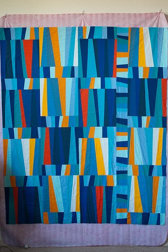 Quilter's Pastiche Busier Crazier (by Taya@TypeB) love the saturated aqua