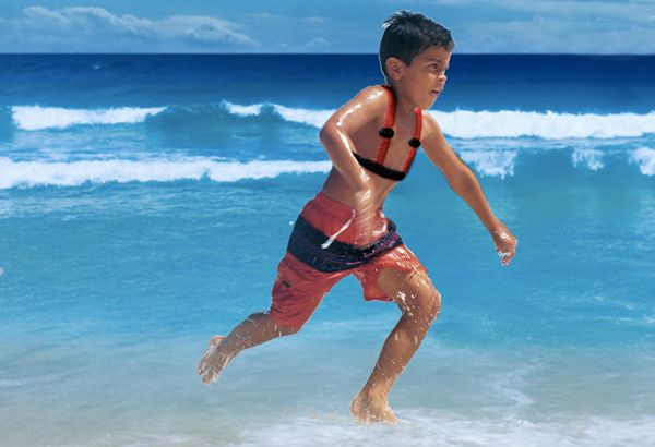 Harvey Swim Harness by DFW Experience - Everyone loves the beach, especially kids… but parents know that it can be just as dangerous as it is fun! The Harvey Swim Harness app combination now lets parents rest assure that their little ones will be safe playing in the surf. Read more at http://www.yankodesign.com/2013/12/18/swim-safe-app/#1QbvS8fXJlSTAsKF.99