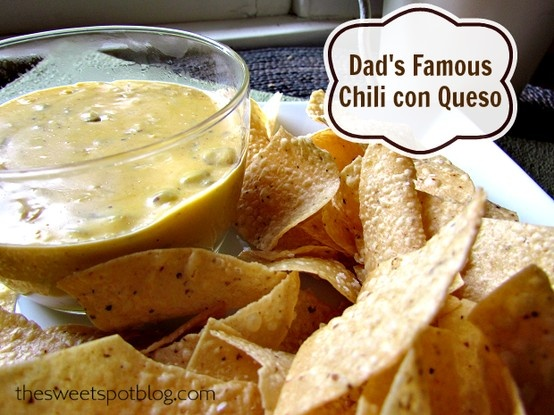 ... com/dads-famous-chili-con-queso/ #recipes #mexican #cheese #queso #dip