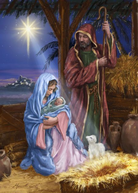 The Holy Family - art by Marcello Corti, via advocate-art