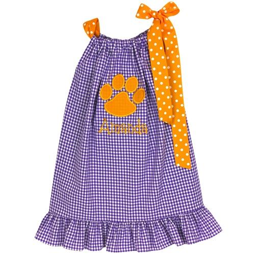 clemson pillowcase dress $48Pillowcase Dresses, 48 Clemson, Baylor Pillowcases, Pillowcases Dresses, Sewing Ideas, Clemson Style, Baby, Dresses 48, Clemson Pillowcases
