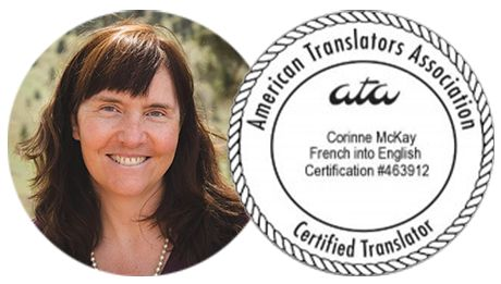 TranslateWrite: French to English Translations – Corinne McKay, ATA-certified French to English Translator #french #website #translation http://england.nef2.com/translatewrite-french-to-english-translations-corinne-mckay-ata-certified-french-to-english-translator-french-website-translation/  # Corinne McKay, CT ATA-certified French to English Translator I provide certified English translations of official documents in French: birth, death, and marriage certificates, educational records…