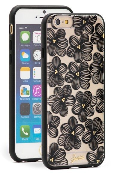 """Free shipping and returns on Sonix 'Iris' Clear iPhone 6 Case (4.7 Inch) at Nordstrom.com. <p><B STYLE=""""COLOR:#990000"""">Pre-order this style today! Add to Shopping Bag to view approximate ship date. You'll be charged only when your item ships.</b></p><br>Sketched iris blooms appear to drift across a clear, rigid case built to protect and display your iPhone."""