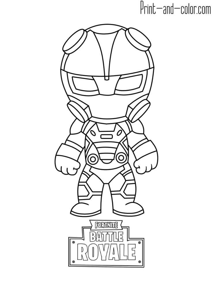 Fortnite Battle Royale Coloring Page Carbide Fortnite V